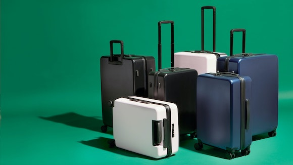 group of suitcases