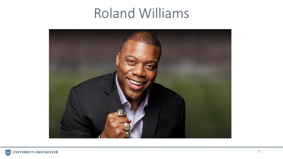 Former National Football League Tight End Roland Williams Will Deliver Simon Business Schools Diversity Conference Keynote Speech On October