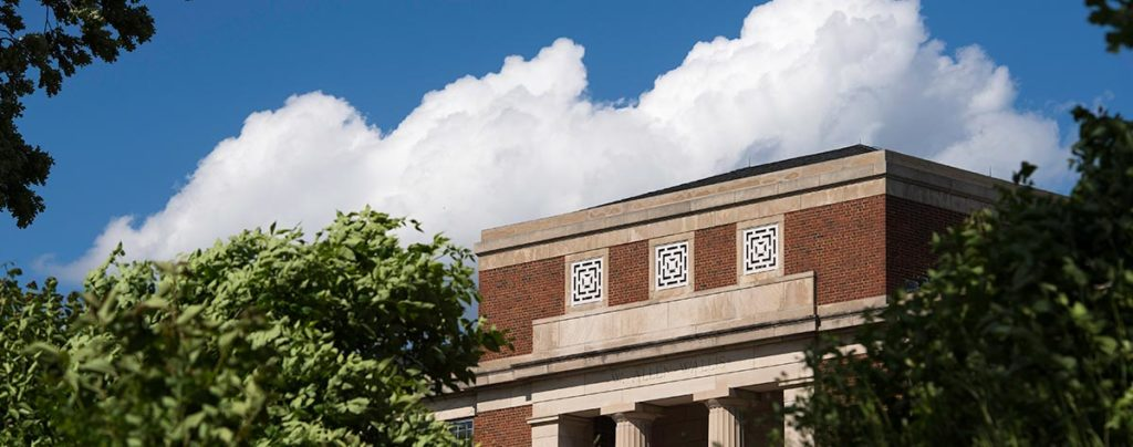 Wallis Hall with clouds