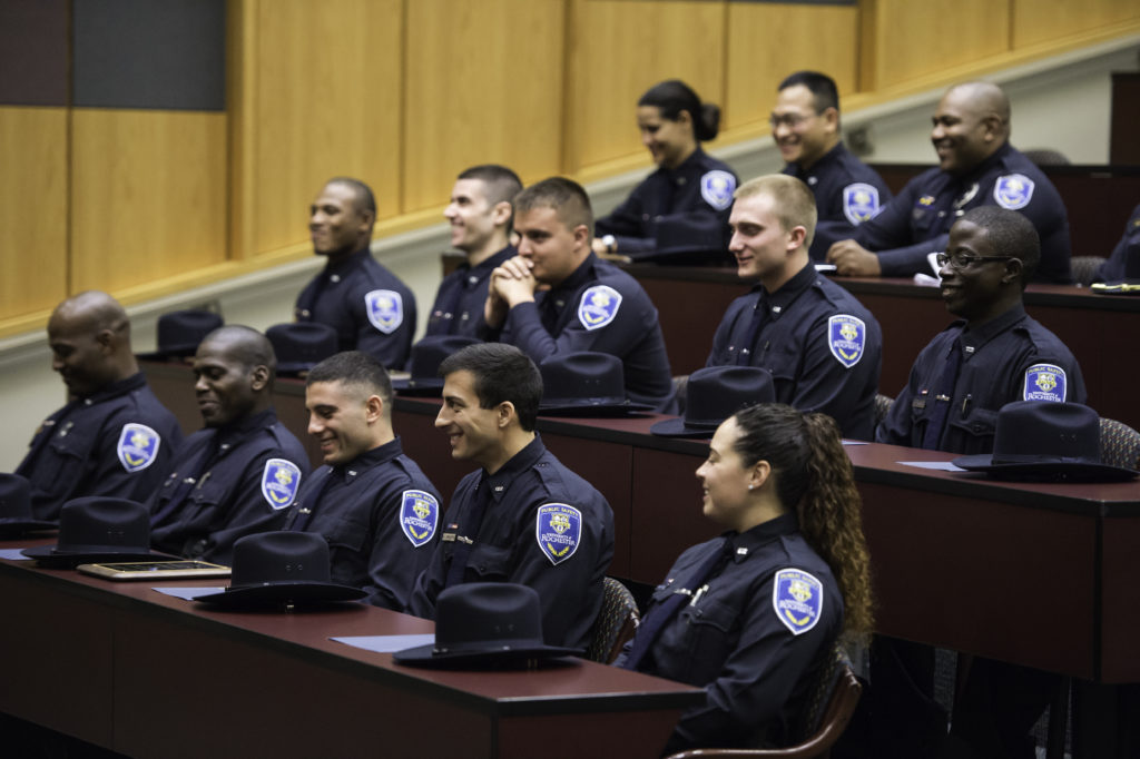 University of Rochester's Department of Public Safety graduation ceremony