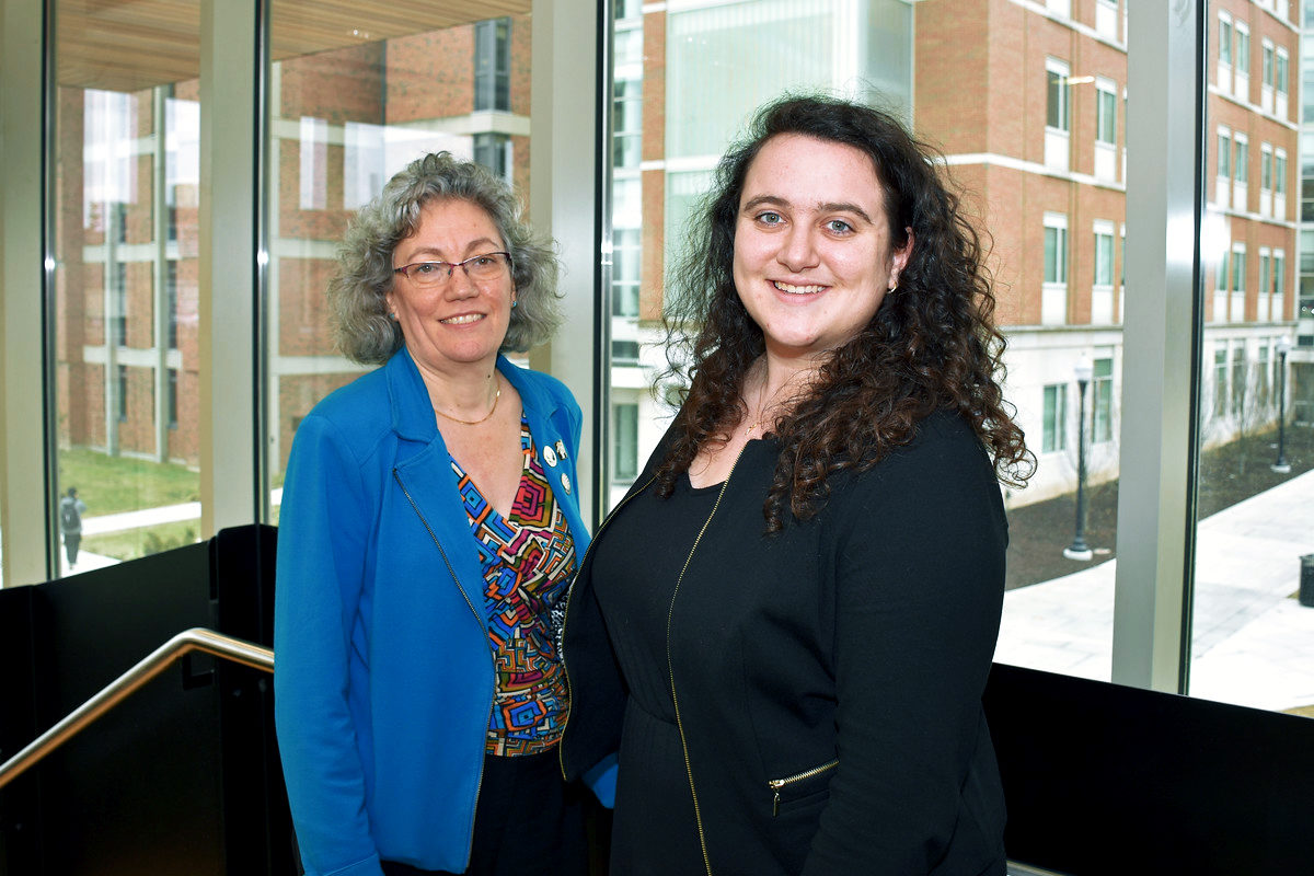 University of Rochester Commission on Women and Gender Equity in Academia co-chairs Amy Lerner and Antoinette Esce // Photographed February 22, 2018 // Photo by Stephen Dow / University of Rochester