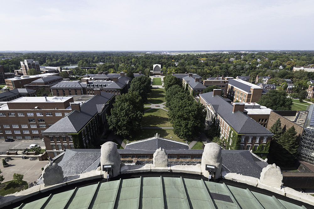 views from tower of Rush Rhees Library