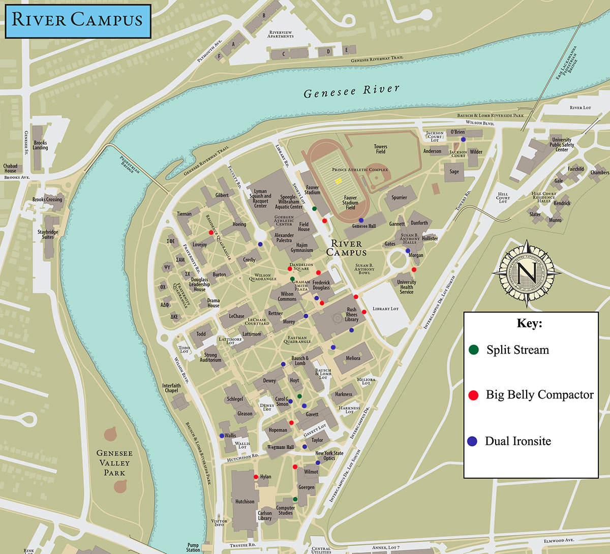 university of rochester campus map pdf Outdoor Recylcing Containers Sustainability University Of university of rochester campus map pdf