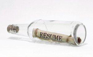 bigstockphoto_resume_in_a_bottle_white_320134