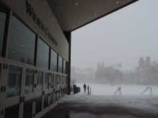 Another snowstorm covers campus